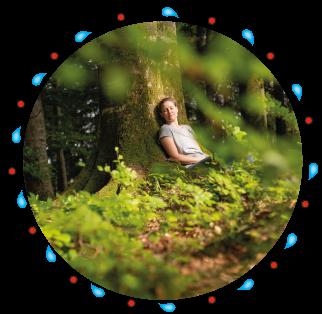 Waldbaden Naturkind - NAtur erleben in Bayern bei Salzburg in der Nähe des Chiemsees mit Sonja Schett