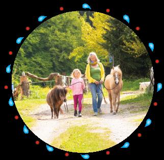 Reitunterricht für Kinder der besonderen Art - bei naturkindpony