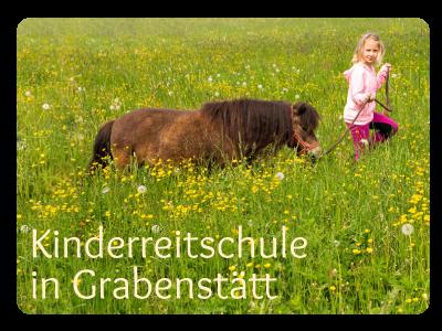 Reitstunden für Kinder in Grabenstätt in Bayern - hier können Kinder auf natürliche Weise Reiten lernen